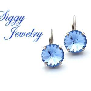 Swarovski Crystal Light Sapphire Drop Earrings